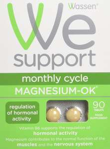 Wassen We Support Monthly Cycle Magnesium-OK - 90 Tablets 80% OFF £1.99 + FREE UK delivery In stock. Sold by Innox Trading @ Amazon