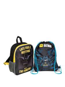 LEGO Batman Junior Backpack & Lego Batman Shoe Bag now £7.49 C+C (via Collect+) @ Very (more in OP)