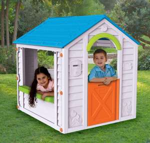 Keter Holiday Plastic Playhouse now only £34.40 click & collect @ B&Q