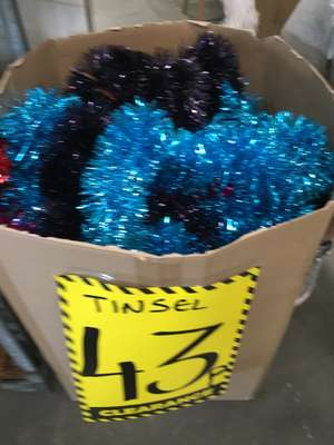 Christmas tinsel 43p and various baubles 43p-£3.00 instore Homebase scunthorpe