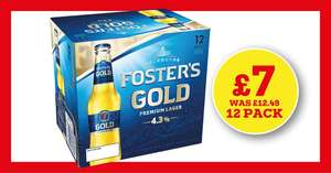 Fosters Gold 12 Pack £7 @ Bargainbooze