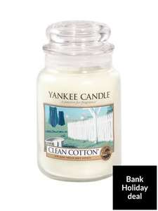 Yankee candle large jar Clean cotton £15 instead of £23.99 at Very in stock