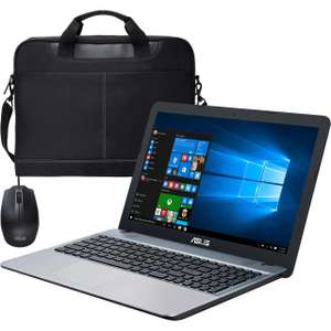 """Asus VivoBook Max 15.6"""" Laptop Includes Wired Mouse And Bag - Silver - £279 @ AO"""