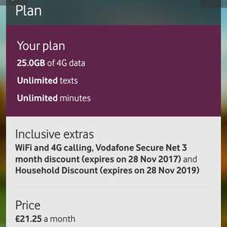 Vodaphone Loyalty/Rentention deal - £13.65/month after cashback