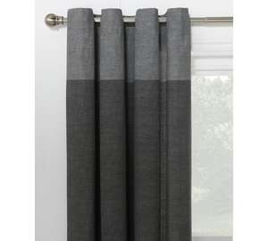 HOME Dublin Unlined Eyelet Curtains - 117 x 137cm - Charcoal £7.49 @ Argos
