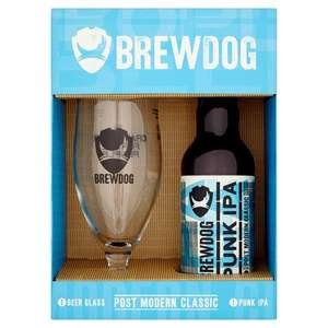 BrewDog Gift Set 330ml Beer & Glass. (Punk IPA, 5am Saint & Dead Pony Club) £1.80 @ Sainsburys