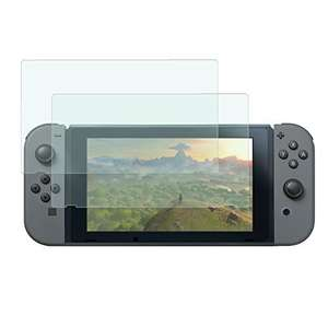 Tempered glass screen protectors for Nintendo Switch set of 2 for £1.89 (Prime) Sold by PrimeCases and Fulfilled by Amazon