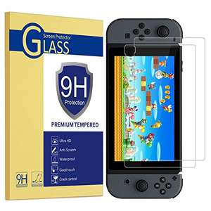 2 Nintendo switch tempered glass screen protector 1.95 (Prime) Sold by WIZFUN UK and Fulfilled by Amazon.