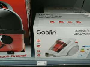 Goblin compact cylinder vacuum cleaner . Asda £25