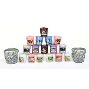 Yankee Candle 2 Mosaic Votive Holder & 16 Candle Set £26.99 Free Delivery @ Bargain Crazy