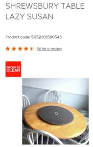 Lazy Susan was £19, now £2.40 @ B&Q (Free C&C)