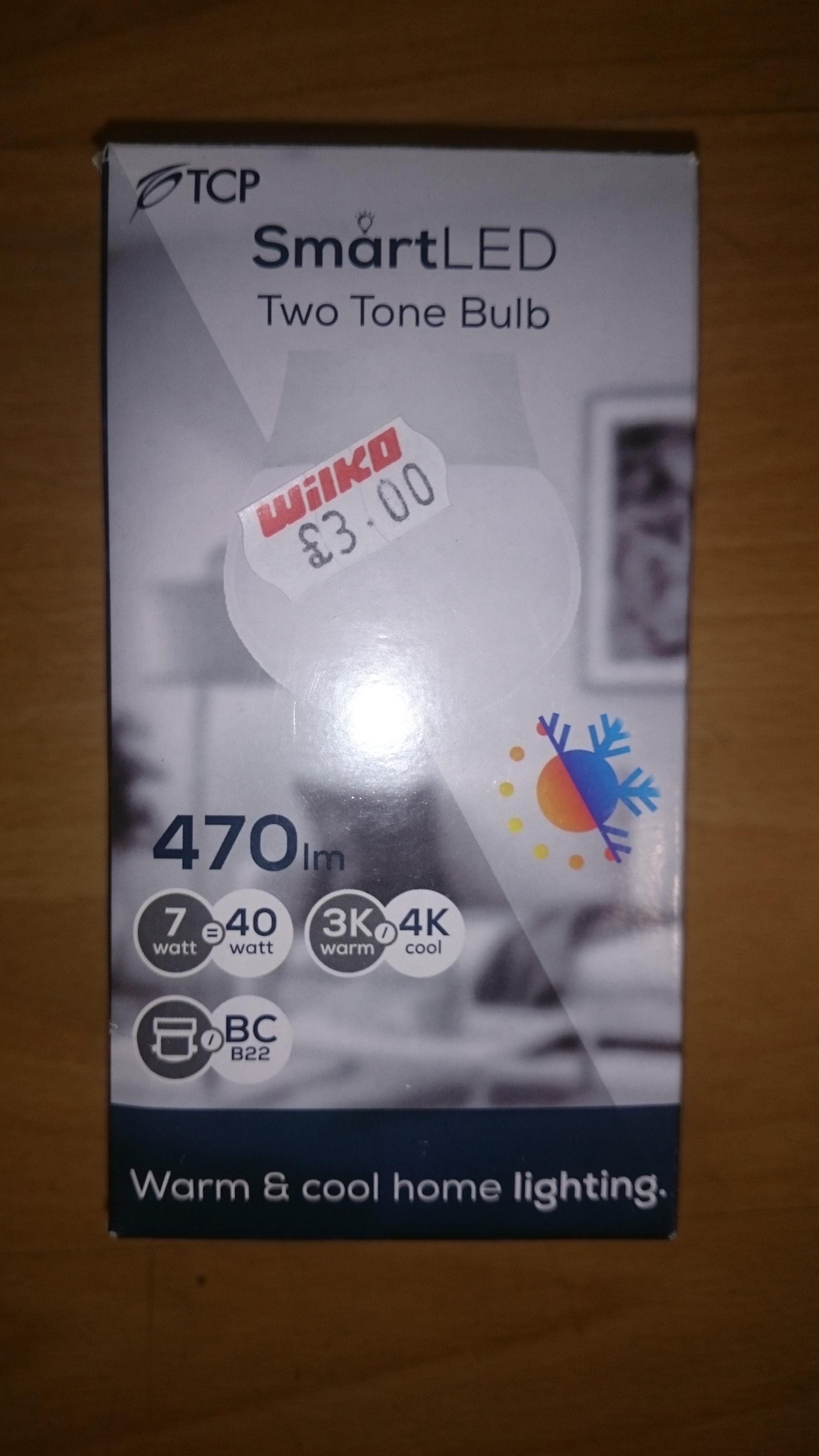 TCP Smart LED Two Tone Bulb £1 instore @ Wilko