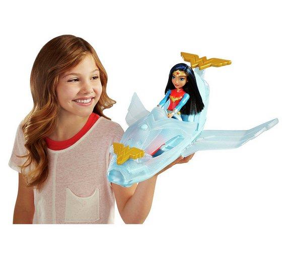 DC Super Hero Girls Wonder Woman Doll & Invisible Jet £11.99 @ Argos