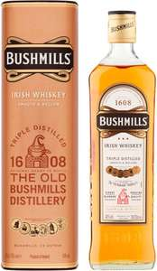 Bushmills (Tripple Distilled and Cask Matured) Irish Whiskey (70cl) (ABV 40%) was £19.00 now £15.00 (Rollback Deal)​ @ Asda