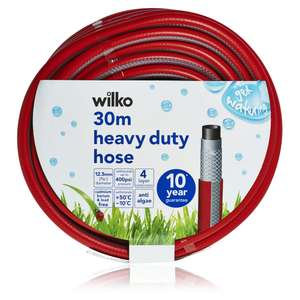 Garden Hose Heavy Duty 30m for £6 @ Wilko (& Other Garden Offers)