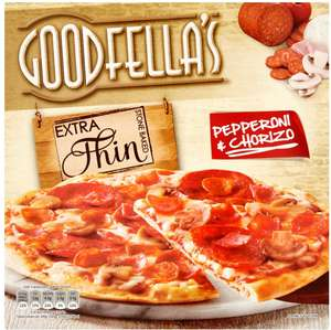 Goodfella's Extra Thin Mozzarella and Pesto Pizza (319g) / Goodfella's Extra Thin Pepperoni and Chorizo (328g) was 2.25 now £1.00 @ Morrisons
