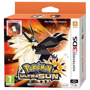 Pre-Order Pokemon ultra moon and sun steel book edition for £31 Prime / £33 Non Prime with code @ Amazon