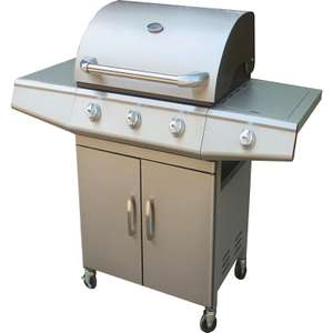 Jumbuck 3 Burner Stainless Steel BBQ  with Side Burner £49.93 was £298 instore only @ Homebase (Oban)