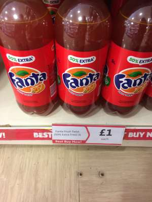 Fanta fruit twist 3lt £1 instore @ Heron Foods