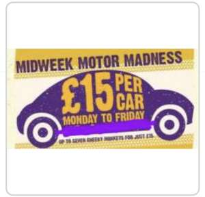 Knowsley Safari Park £15 per car for up to 7. Mondays - Fridays Starts September 4th.
