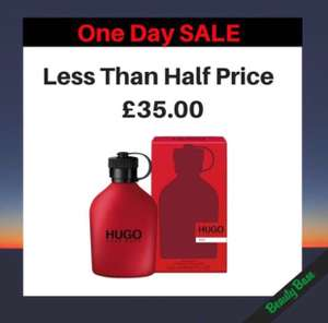 Hugo Red Eau De Toilette 200ml  NOW £35.00 Was £71.00|Save £36.00  ONE DAY SALE ONLY