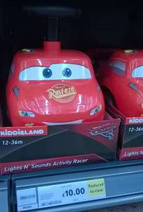 Ride on Disney Pixar Cars reduced from £40 to £10 instore @ Tesco
