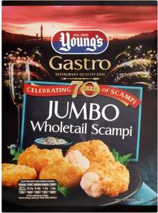 Young's Jumbo Whole Scampi (220g) Half Price: was £4.25 now £2.12 @ Sainsbury's