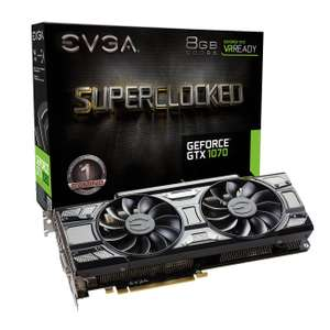 Pre-order - EVGA GTX 1070 SC 8GB ACX 3.0 Black Edition - £368.99 @ Scan
