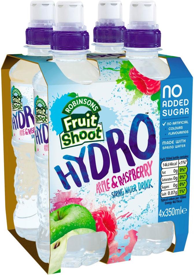Robinsons Fruit Shoot Hydro Blackcurrant (No added Sugar) (4 x 350ml) Half Price was £2.39 now £1.19 @ Tesco