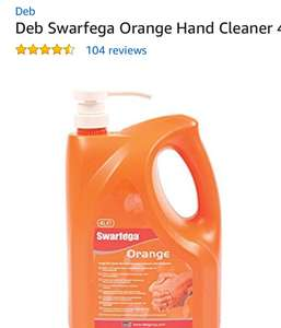 Deb Swarfega Orange Hand Cleaner 4 L with Pump £13.49 (prime) @ Amazon