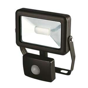 LAP Slimline LED Floodlight with PIR 10W £4.49@ Screwfix