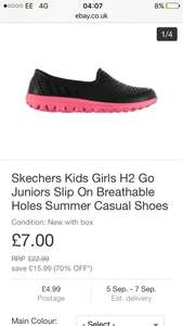 Skechers Kids Girls H2 Go Juniors Slip On Breathable Holes Summer Casual Shoes for £7 + £4.99 delivery at Ebay/SportsDirect