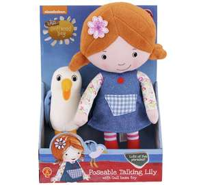 Lilys Driftwood Bay poseable talking doll with seagul beanie toy. Was £22.99 now just £3.49 at Argos