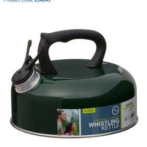Whistling Kettle 2L - Green  B&M 10p