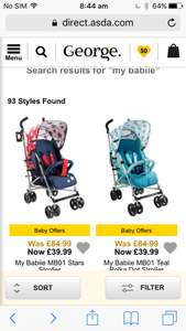My Babiie MB01 Stars Stroller Was 89 now 39 at Asda George