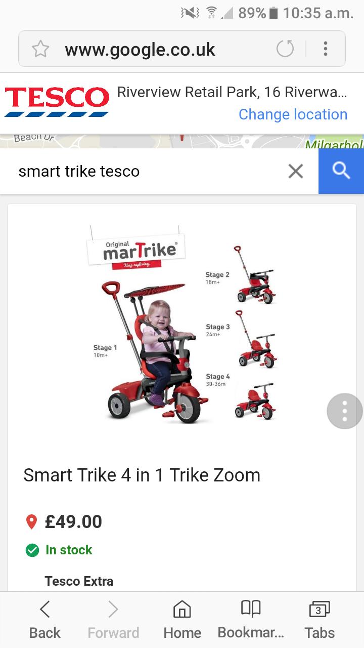 Smart trike - £37.50 instore @ Tesco