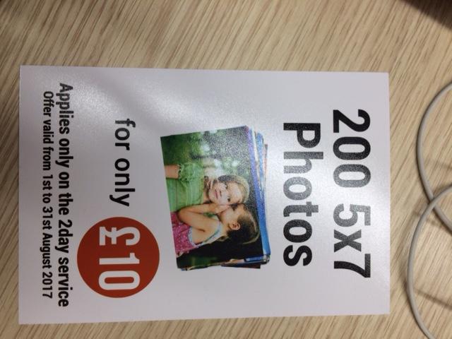 200 5x7s at asda trafford photo centre - £10