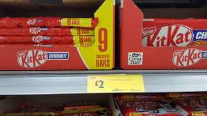Kit Kat Chunky Bars 9 Pack £2.00 instore at Morrisons