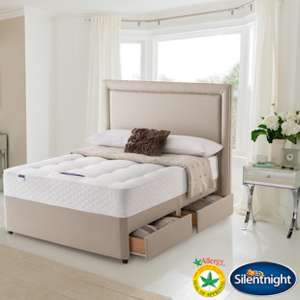 Silentnight Bexley Miracoil Orthopaedic Super King Size Divan Bed Set with Four Drawers (FREE delivery) @ Costco online