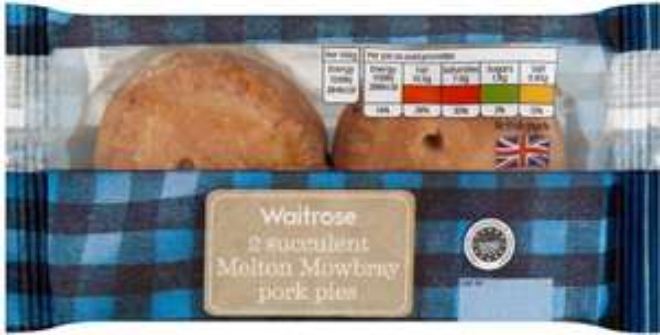 Waitrose Melton Mowbray pork pies (2 pies = 150g) was £1.39 now 69p @ Waitrose