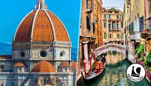 4 Night Venice and Florence Double City Break including London flights @ gogroopie - £129