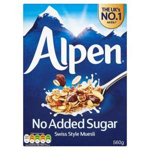 Alpen (no added sugar) 560g for £1.11 with PYO @ Waitrose