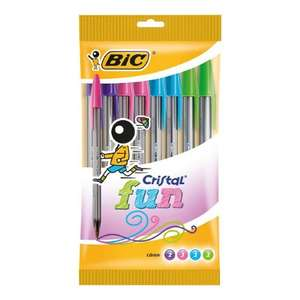 Bic Cristal Original Ball Point Pens 10pk - Fun ONLY £1.49  (RRP £3.99) @ B&M