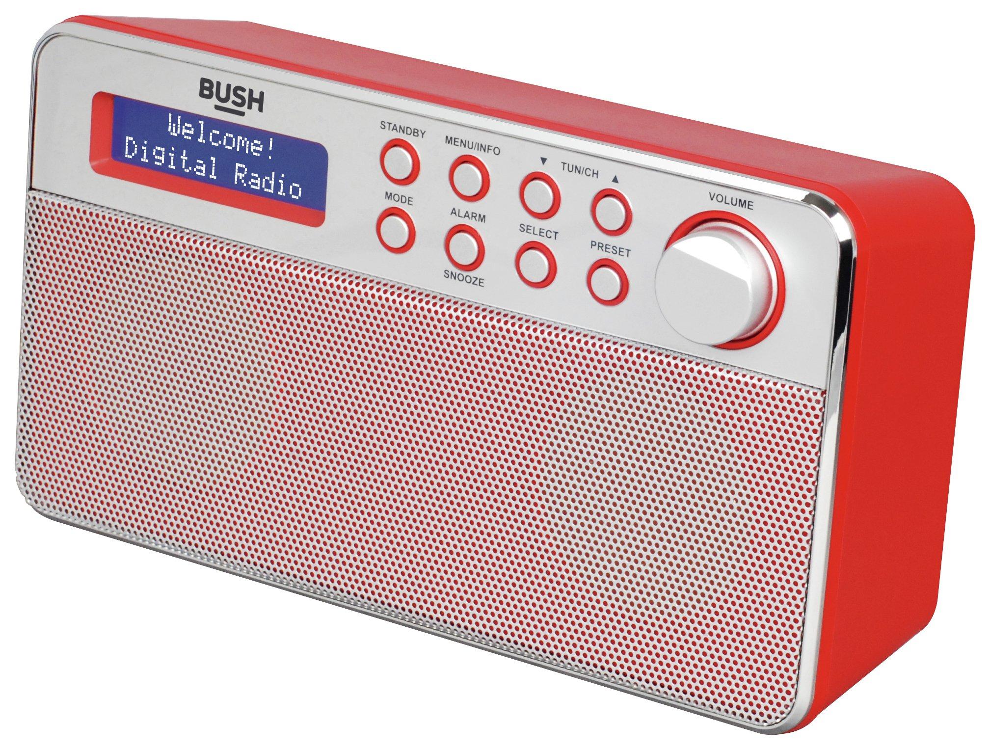 Bush Stereo DAB Radio (Red) £19.99 @ Argos