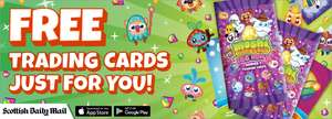 Three packs of Moshi Monster trading cards - delivered free