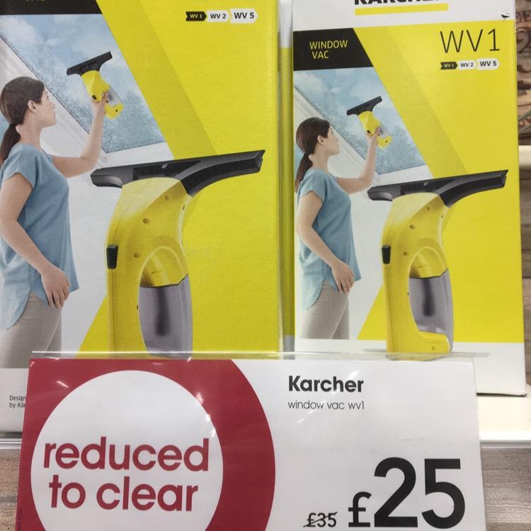 Karcher v1 window vac instore at Wilko for £25