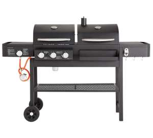Dual Fuel Charcoal and Gas Combo Grill - Argos £199.99