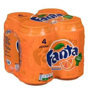 Fanta Orange (4 x 330ml) was 99p now 50p @ B&M