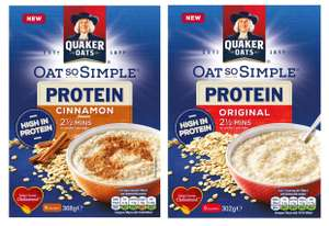 Oat So Simple Protein Porridge Cinnamon/Original £1 @ Asda online/instore