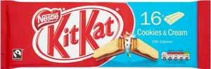 Nestle Fair Trade Kit Kat 2 Finger Bars - Original and Cookies & Cream (16 Pack = 331.2g) was £2.91 now £2.00 @ Morrisons